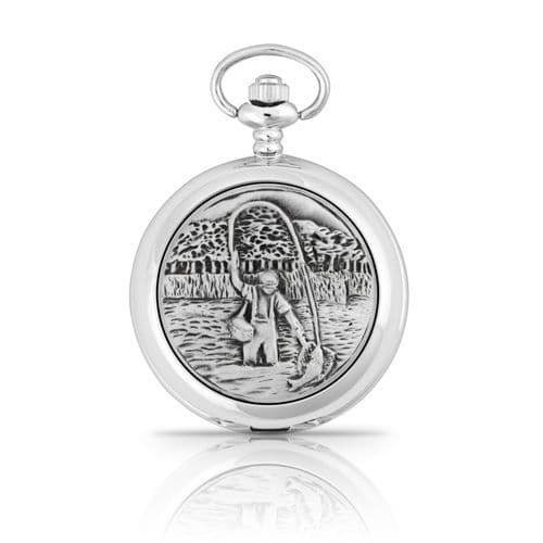 Fly Fishing Mechanical Pocket Watch