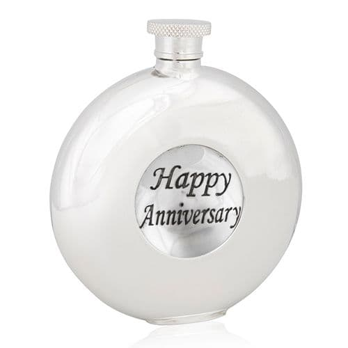 Happy Anniversary Round Flask