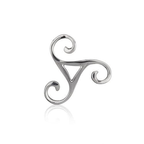 Open Triskle Knot Pewter Brooch