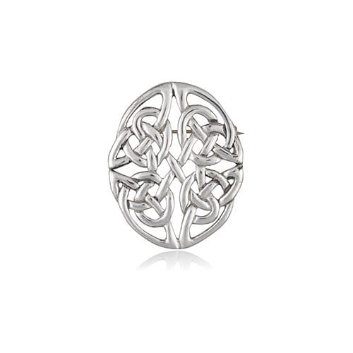 Pictish Knotwork Pewter Brooch