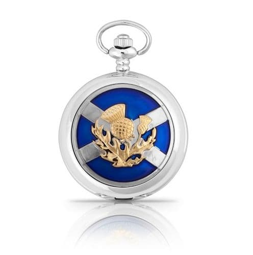 Saltire and Thistle Pocket Watch