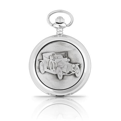 Silver Ghost Mechanical Pocket Watch