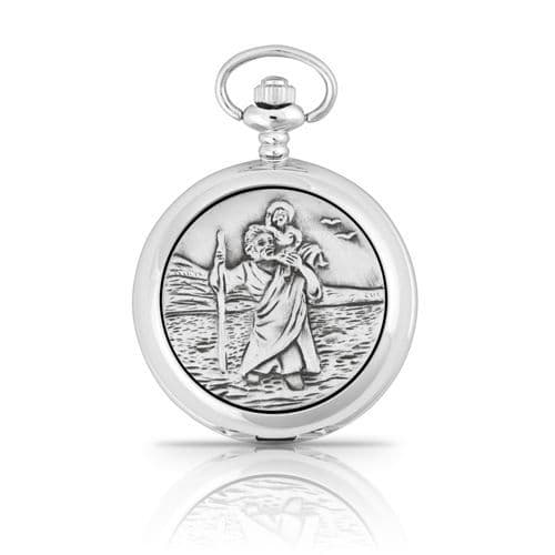 St Christopher Mechanical Pocket Watch