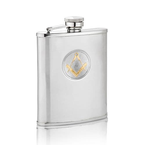Two Tone Masonic Hip Flask