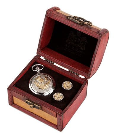 Two Tone Thistle Watch and Cufflinks in Trunk