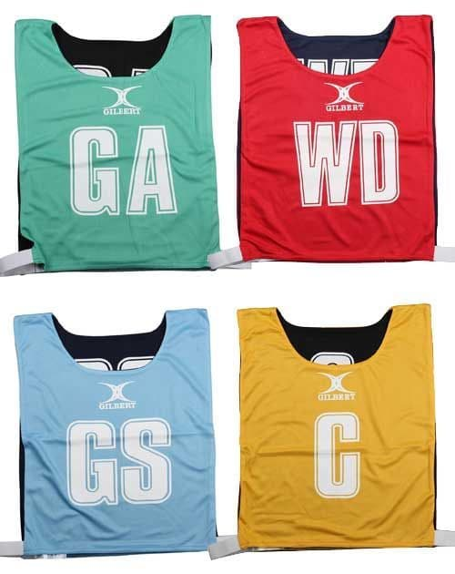 Gilbert Reversible Netball Bib (Set Of 7)