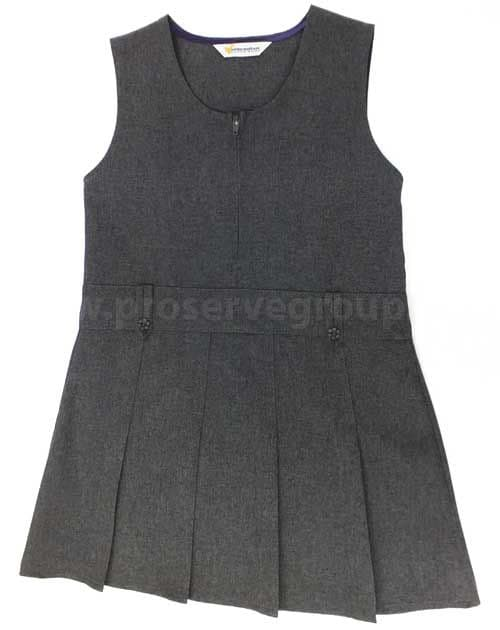 Junior Girls Pinafore (Grey)