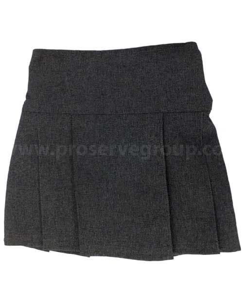 Junior Girls Pleated Skirt (Grey)