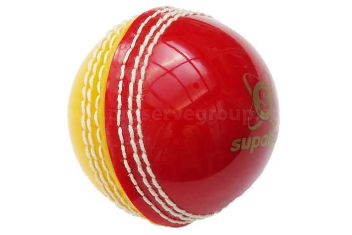 Practice Synthetic Cricket Ball (Soft Seamed Red/Yellow)