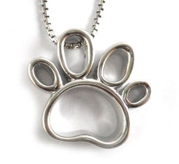 Lisa Welch Open Dog Paw Print Necklace (Large)