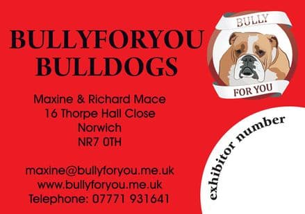 Dog Show Bespoke Cage/Crate ID Identification Sign / Plaque