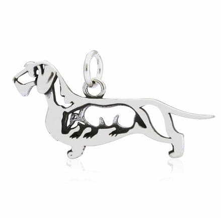 Dazzling Paws Dachshund Daxi Wire-Haired with Badger Charm