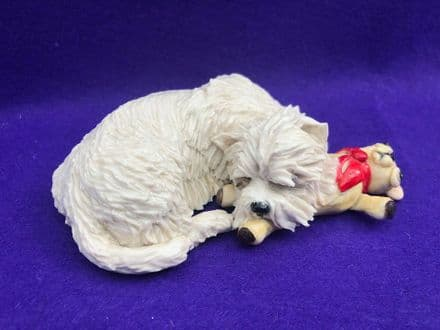 Eve Pearce Hand-Made Model - West Highland White with Teddy