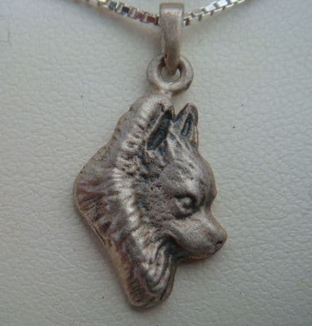 Solid Silver Matt Long Haired Chihuahua Charm