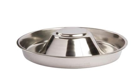"Puppy Feeder Bowl Stainless Steel SMALL 12""x 12"""