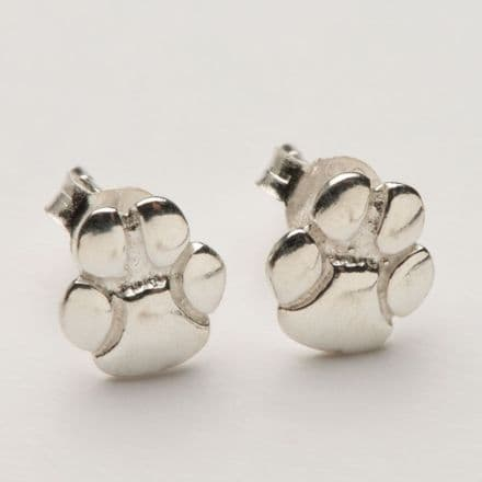 Solid Gold Mini Padi Paw Stud Earrings (Photo in Silver only)