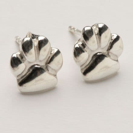 Solid Gold Padi Paw Stud Earrings (Photo in Silver only)