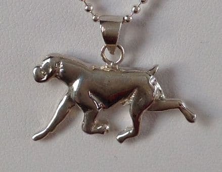 Solid Silver Boxer (Running) Charm