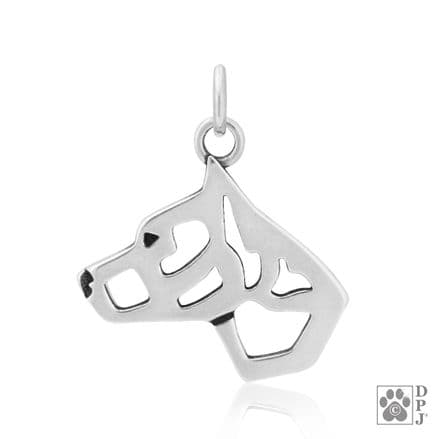 Solid Silver Dazzling Paws American Staffordshire Terrier Head