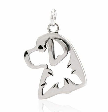 Solid Silver Dazzling Paws Bernese Mountain Dog Head