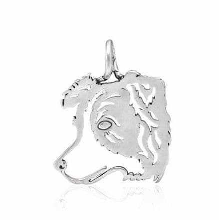 Solid Silver Dazzling Paws Border Collie Head