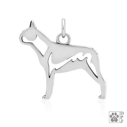 Solid Silver Dazzling Paws Boston Terrier