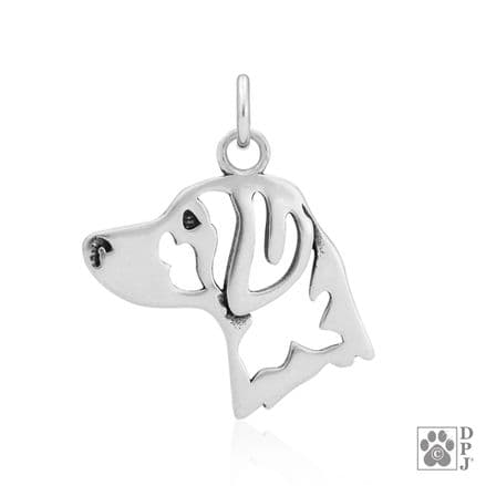 Solid Silver Dazzling Paws Brittany Head