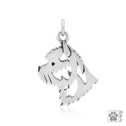 Solid Silver Dazzling Paws Cairn Terrier Head