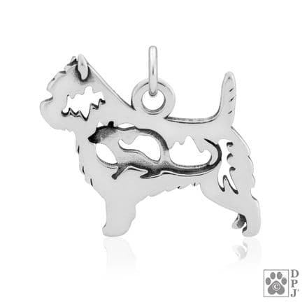 Solid Silver Dazzling Paws Cairn Terrier w/Rat
