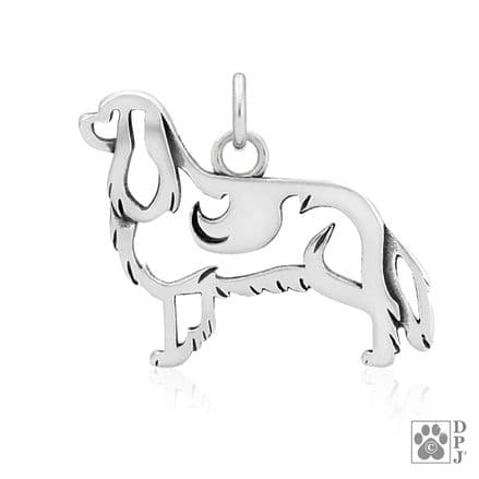 Solid Silver Dazzling Paws Cavalier King Charles Spaniel