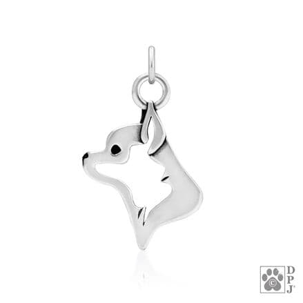 Solid Silver Dazzling Paws Chihuahua Smooth Coat Head