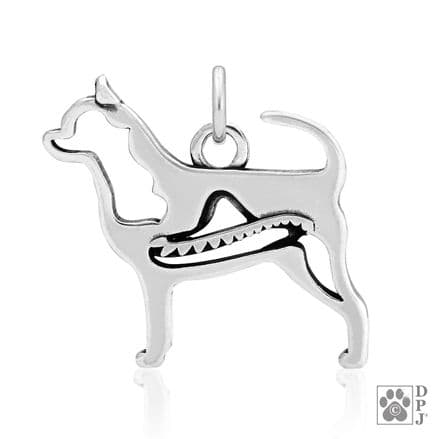 Solid Silver Dazzling Paws Chihuahua Smooth Coat w/Sombrero