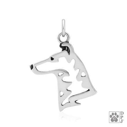 Solid Silver Dazzling Paws Collie (Smooth) Head