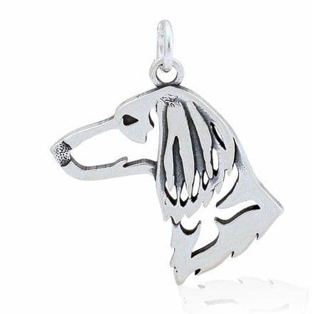 Solid Silver Dazzling Paws Dachshund Long Haired Head