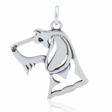 Solid Silver Dazzling Paws Dachshund Wire Haired Head