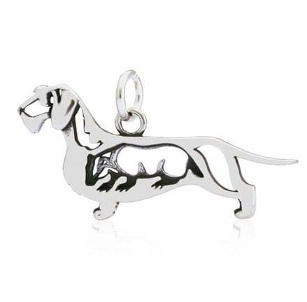 Solid Silver Dazzling Paws Dachshund Wire Haired w/Badger