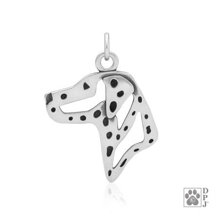 Solid Silver Dazzling Paws Dalmatian Head