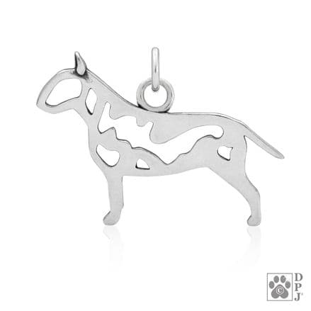 Solid Silver Dazzling Paws English Bull Terrier
