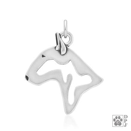 Solid Silver Dazzling Paws English Bull Terrier Head