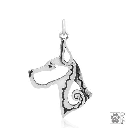 Solid Silver Dazzling Paws Great Dane (Copped) Head