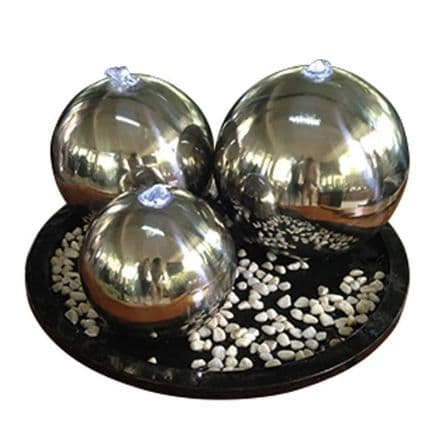 Mesmerizing 3  Spheres in stainless steel