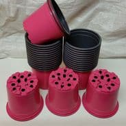 10.5cm Flower pots - Various Colours - 10 pots - 200 pots