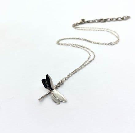 Sterling Silver 925 Dragonfly Pendant & Chain