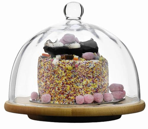 Cake Dome Optic Pleat  & Lazy Susan Board