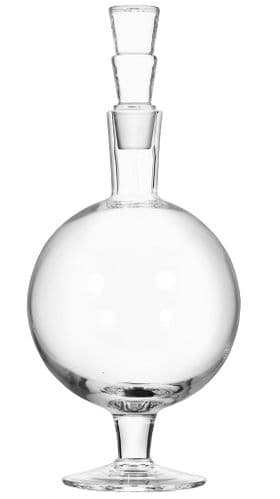 Clear Glass Decanter & Stopper 36cm