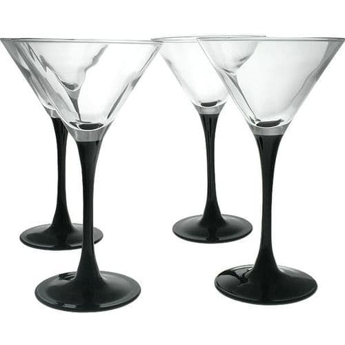 Cocktail Glasses  Black Stem 260ml