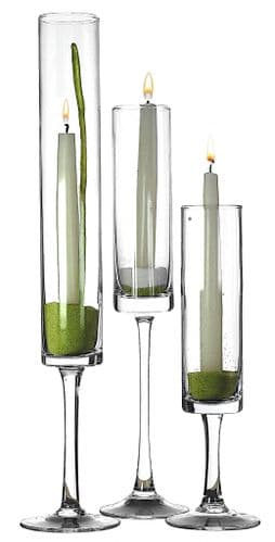 Cylinder Candlestick Holder Set of 3