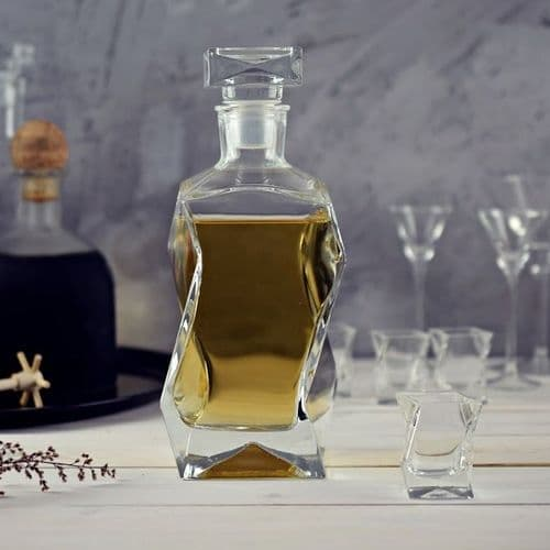 Decanter 0.75l Curvy - Engraved