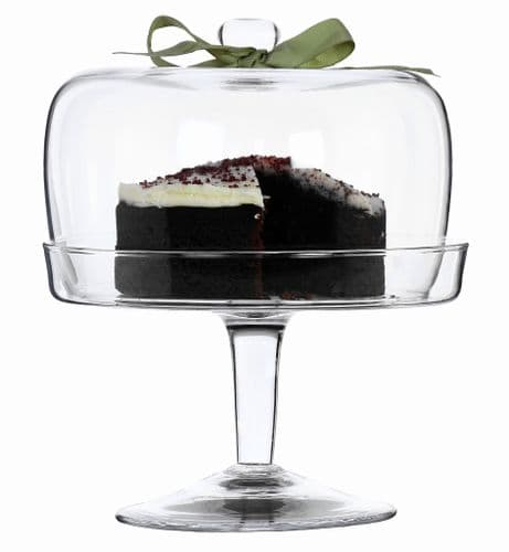 Footed Cake Stand & Dome 25cm