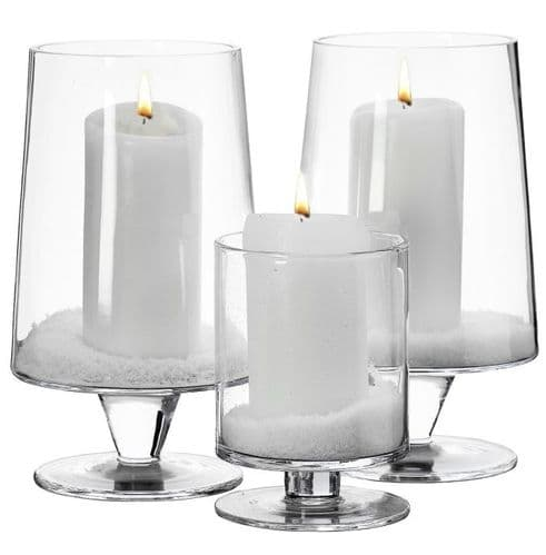 Glass Candle Holder Set of 3